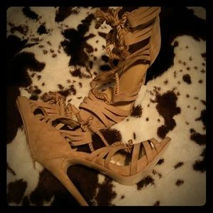 Just fab lace up heels